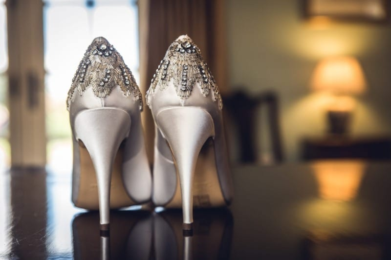 Wedding detail shoes
