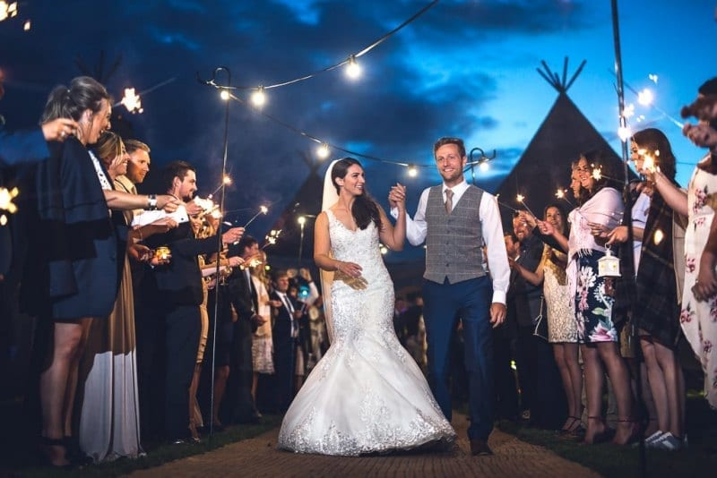 Tipi Wedding Sparklers